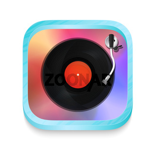 Vintage record player icon