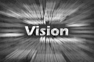 Vision word with motion rays
