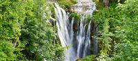 Beautiful waterfall in Slunj, Croatia during summer season.