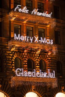 Frohe Weihnachten Beleuchtung