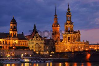 Dresden Hofkirche Nacht - Dresden Catholic Court Church night 08