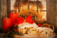 Christmas Stollen, Dresden Stollen with Candle Arch