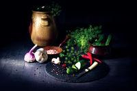 rustic fresh pickled cucumber  (polish malosolne)