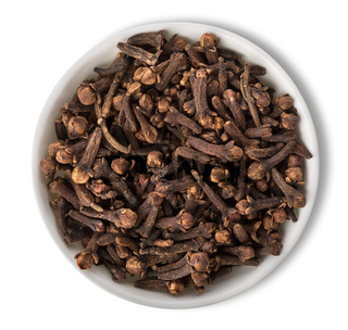 Clove in plate isolated