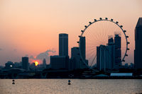 Singapore Skyline View at Sunset