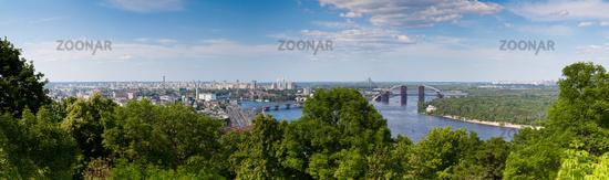Panorama of Kiev, Ukraine.