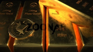 Fine Gold Bars Ethereum Coins