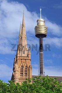 St. Mary Church und der Sydney Tower