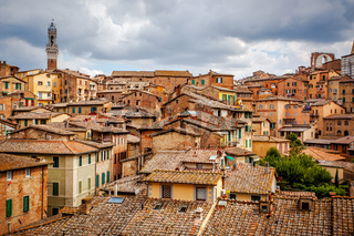 View of the historic city of Siena