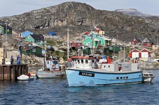 Eskimosiedlung Qeqertaq an der Diskobucht, Grönland