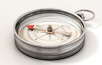 Vintage compass isolated on white background. 3D illustration