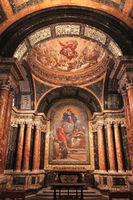 Rome. Decor of the Church of Santa Maria del Popolo