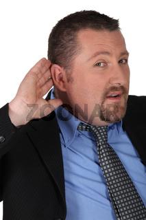 businessman listening carefully