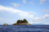 Felsen vor der Insel Siko