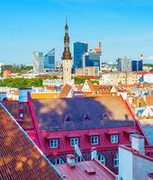Skyline Tallinn cityscape Estonia view