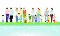 Familien am Wasser.eps