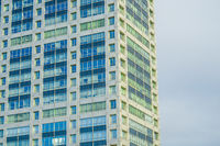 Odaiba of buildings and blue sky