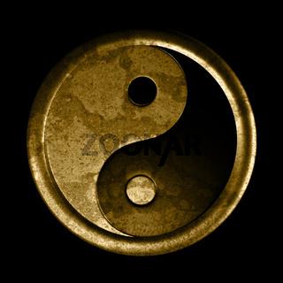 Yin und Yang Symbol - Grunge Effekt