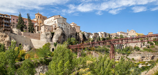 Panoramic view of the old town of Cuenca