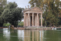 Rome, Borghese Park. Temple of Aesculapius