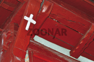 Frankreich: Hausdetail in St. Jean-Pied-de-Port