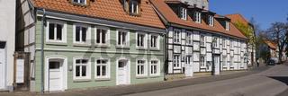 Fachwerkhaeuser in der Altstadt, Soest, Westfalen, Nordrhein-Westfalen, Deutschland, Europa