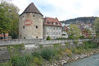 Ill und Wasserturm in Feldkirch