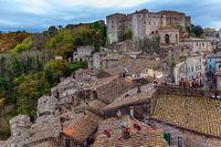 The city of Sorano. Italy