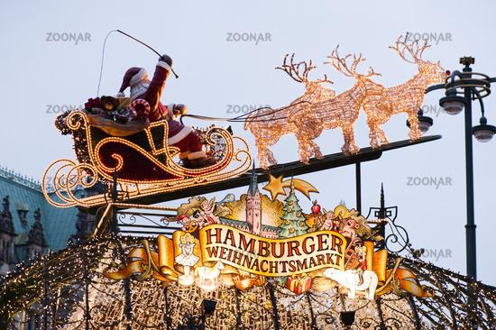 Das Tor zum Hamburger Weihnachtsmarkt
