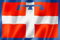 Piedmont region flag, Italy