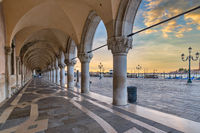 Venice Italy, sunrise city skyline at Saint Mark Square (Piazza San Marco)