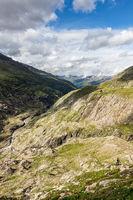 Talblick vom Wanderweg Richtung Obergurgl und Langtalereckhütte, Ötztal, Österreich