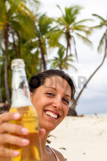 Beer on beach