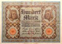 historische deutsche Banknote aus dem Jahre 1920