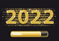 2022 Loading Progress Bar Golden Confetti Night