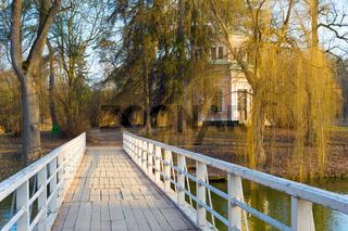 wooden bridge Sofiyivka Park Uman