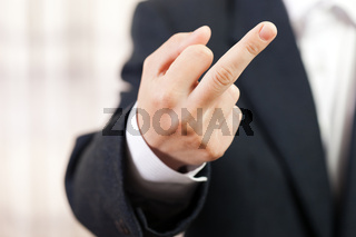 Middle finger gesture