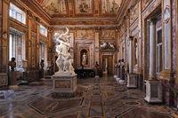 Rome, Galleria Borghese. Hall of Emperors