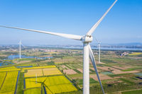 wind turbine closeup with clipping path