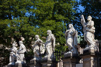 Statues at Church of the Apostles in Krakow