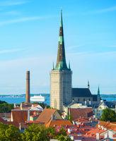 Tallinn Old Town skyline Estonia