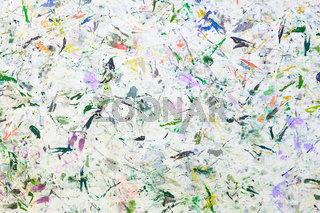 Abstract paint background. Color texture. Brushstrokes of paint. Modern art. Contemporary art. Colorful canvas. Random Watercolor drips. Brush strokes of multicolored acrylic paint on white canvas