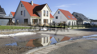 new detached and semi-detached houses