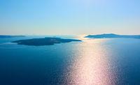 Aegean sea from Santorini in Greece