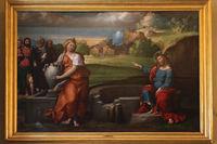 Rome, Galleria Borghese. Christ and the Samaritan woman by Benvenuto Tisi