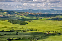VAL D'ORCIA, TUSCANY, ITALY - MAY 18 : Countryside of Val d'Orcia in Tuscany Italy on May 18, 2013