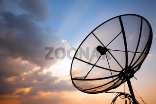 telecommunication satellite dish