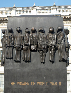 The statue in Whitehall to commemorate the contribution of women in World War 2