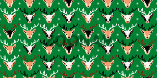 Seamless Christmas pattern design with deer