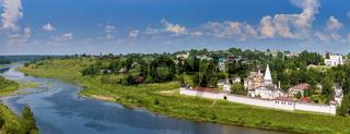 Landscape with Dormition Monastery, Staritsa, Russia